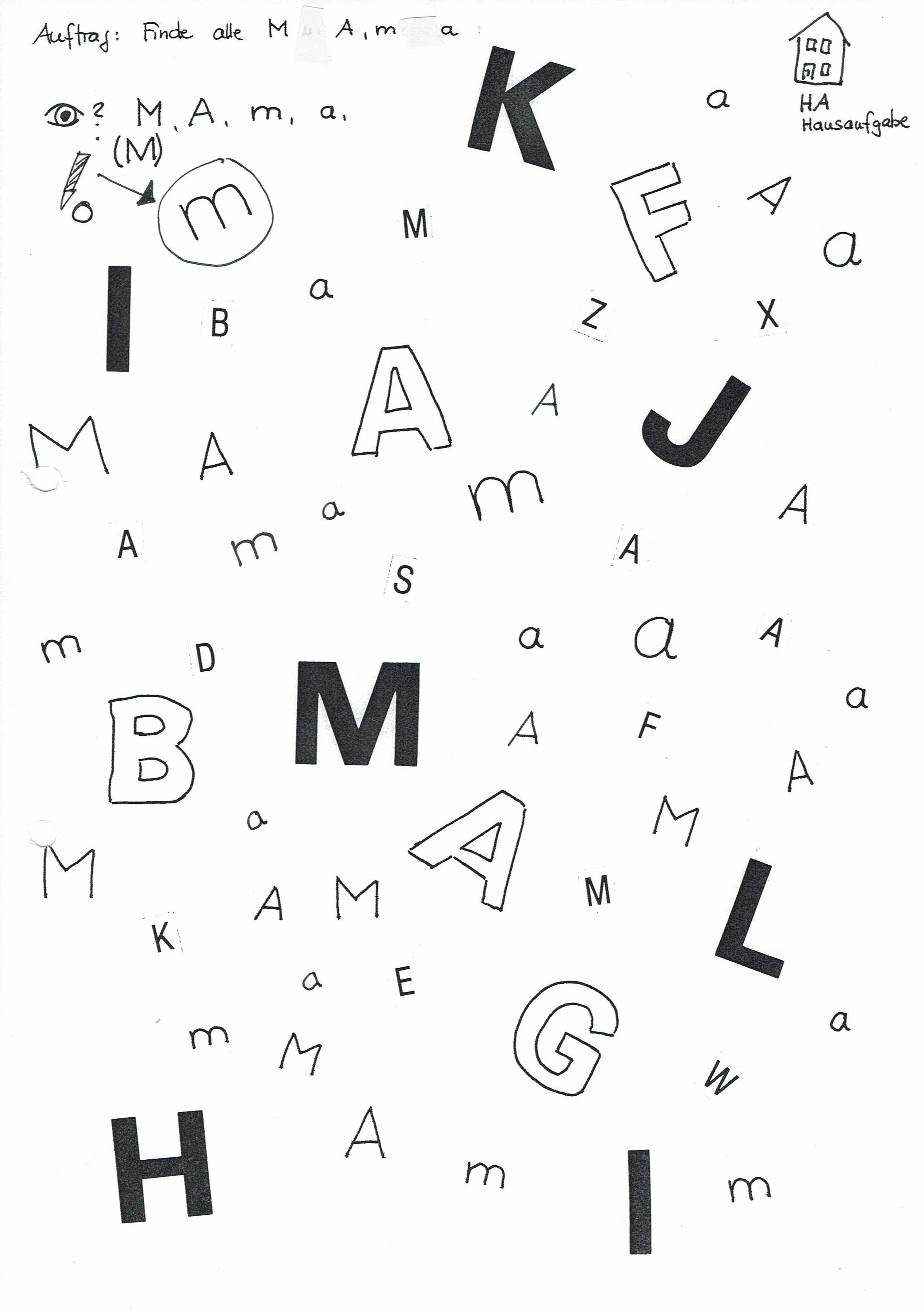 Aus Buchstaben Ein Wort Finden